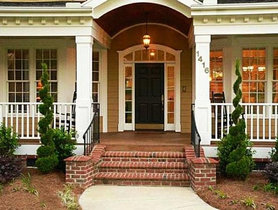 Entrance Staircase Designs To Beautify Homes And Improve Curb Appeal | House Stair Design Outside | Outside Staircase Grill | Backyard Stair | Unique | Low Cost | Recent