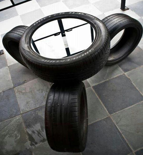 How to Reuse and Recycle Old Car Tires in House Design and