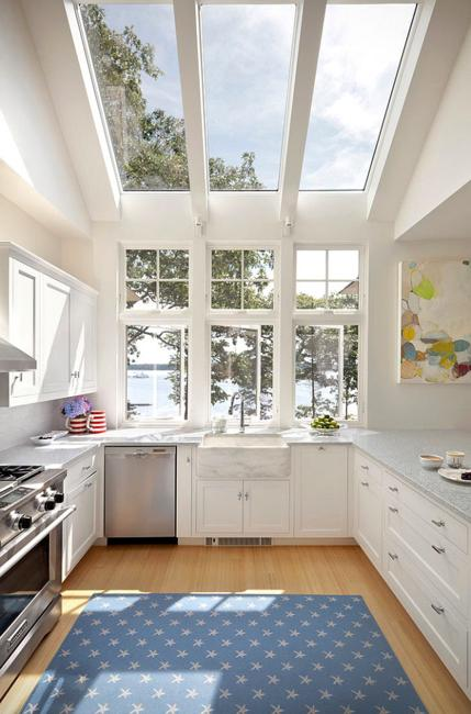 kitchen skylights summit all in one modern window designs visually stretching small kitchens