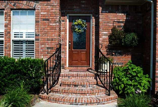 Building Exterior Stairs With Classy Bricks And Modern Tiles | Staircase Design In Front Of House | Front Wall | Boundary Wall | Front Side | Indian Style | Outdoor