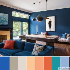 Living Room Colors 2018 Cushions For Uk 8 Modern Color Trends Ideas Creating Vibrant Interior Scheme Dark Blue Green Orange And Light Gray Tones