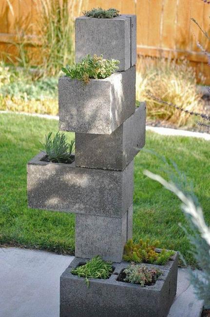 Original Cinder Block Ideas For Diy Yard Decorations