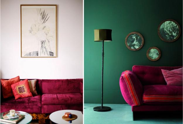 Complementary and Sophisticated Pink Green Color Schemes