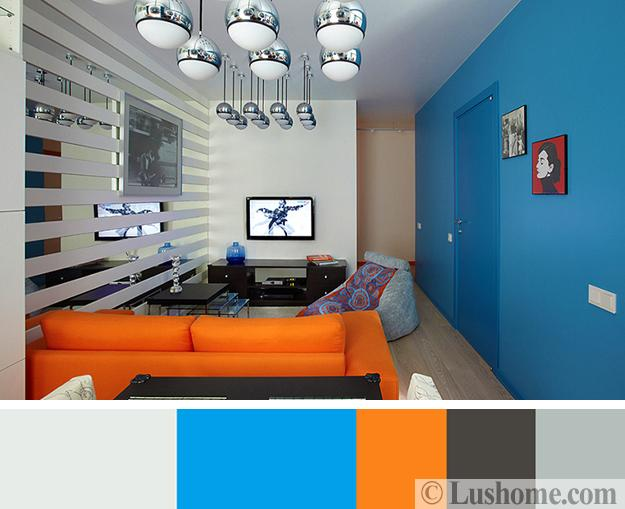 black and orange sofa platform plans 5 beautiful color schemes to spice up your interior ...