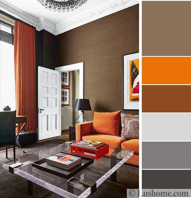 color combination living room 5th wheel with in front 5 beautiful orange schemes to spice up your interior design combinations modern