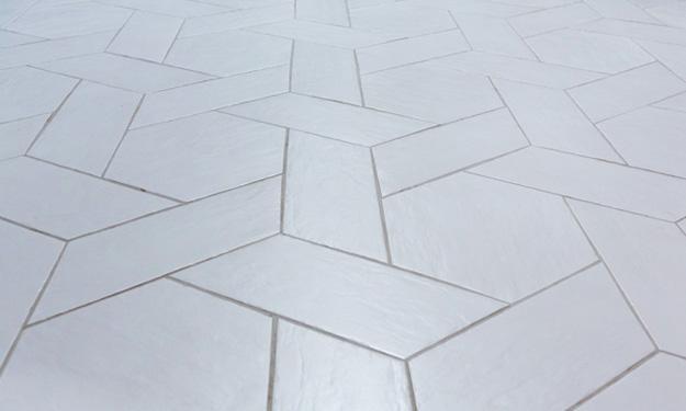 hexagonal tiles modern wall