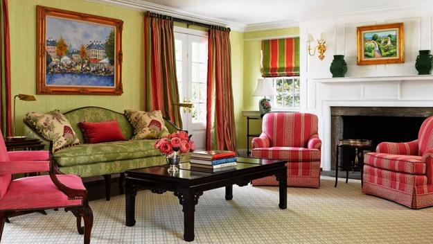 modern white sofa decorating ideas country vista table pink, purple and green color schemes, 20 interior ...
