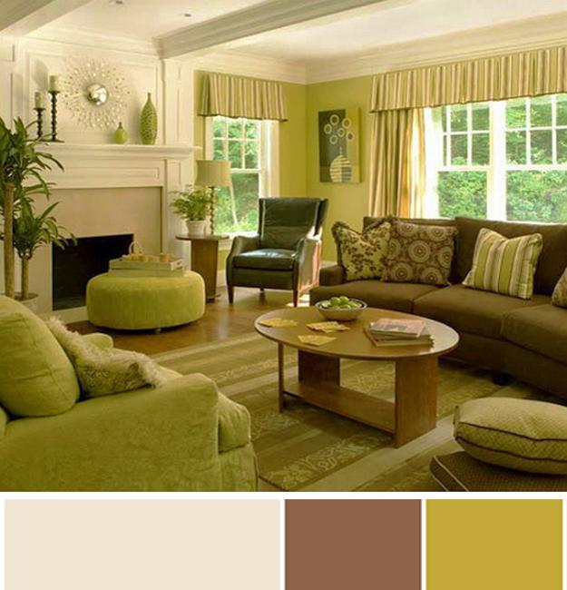 brown and green color scheme for living room purple accent chairs 6 holiday treats inspiring interior design schemes pumpkin seed colors creamy white
