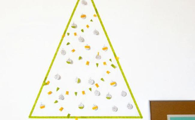 Last Minute Wall Christmas Tree Designs Offering Space
