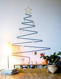 Last Minute Wall Christmas Tree Designs Offering Space ...