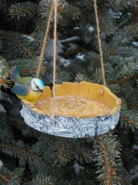 Wood Bird Feeder, 25 Design Ideas for DIY Garden Decorations