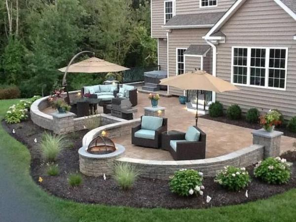 beautiful fire pit seating areas