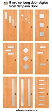 Modern Door Designs with Geometric Glass Panel Inserts in