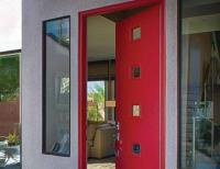 Modern Door Designs with Geometric Glass Panel Inserts in ...