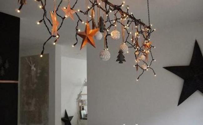 45 Original Christmas Ideas Suspended Branches With