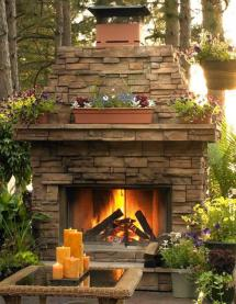 outdoor fireplace design seating