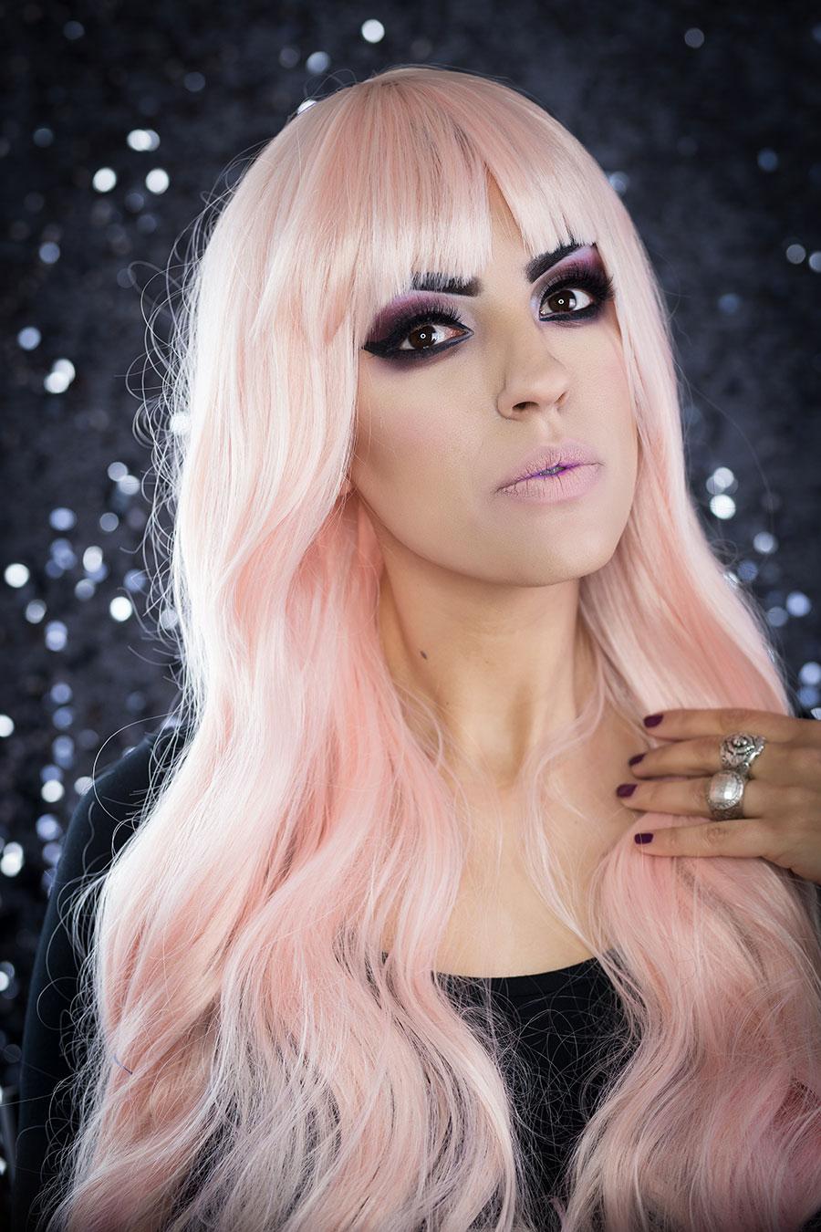 Cutie Pie Lush Wigs Cream Pink Blonde Gothic Lolita