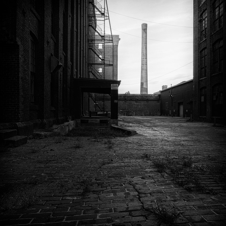 Pacific Mill: Mill Yard and Smokestack