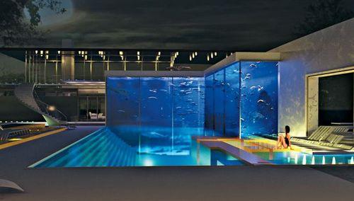 Okeanos Aquascaping presenta la piscina con lacquario di squali da 11 milioni di dollari