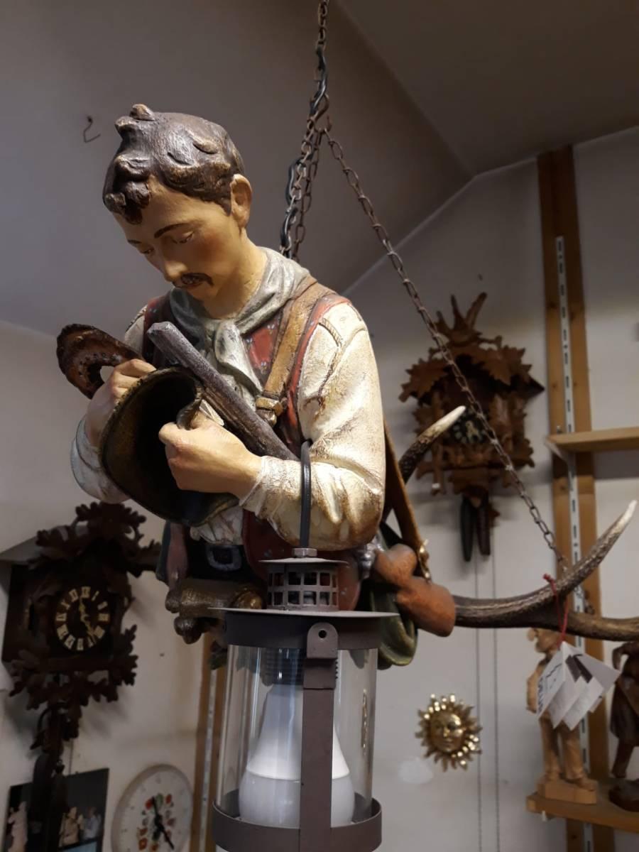 Lampadario artigianale sospensione in ceramica decorato a mano diametro 31cm. Luster Chandeliers Luster Woodcarvings