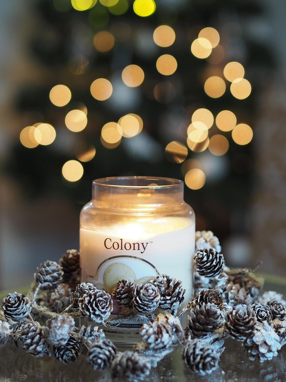 Wax lyrical christmas candle