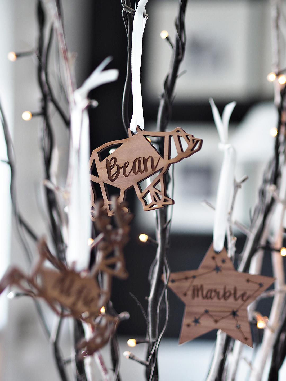 Personalised Scandi Christmas Decorations