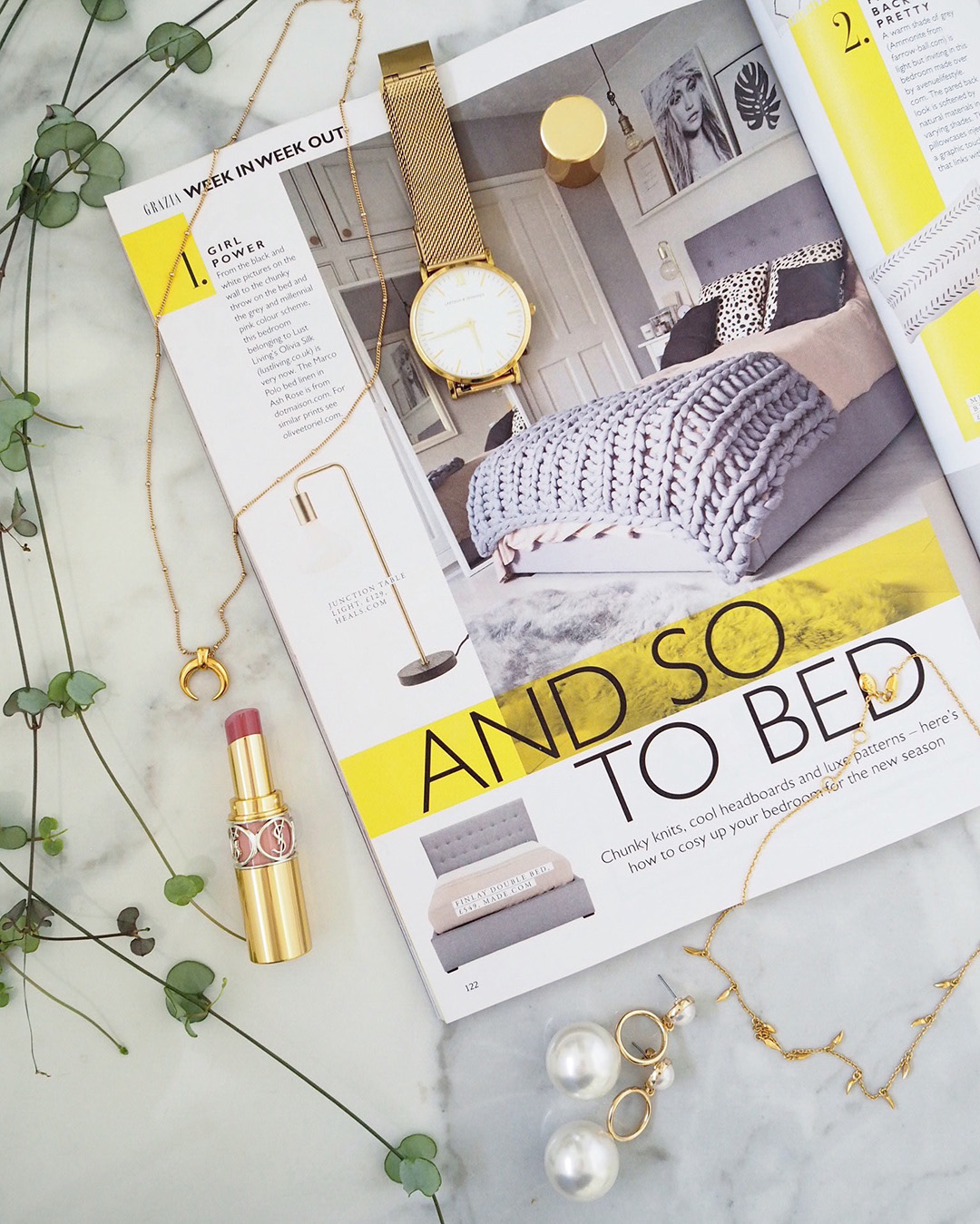 Lust Living Bedroom Feature Grazia Magazine