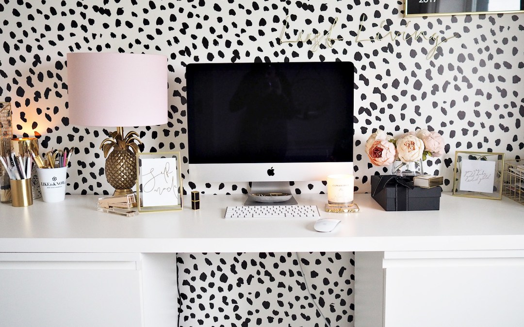 Home Office Tour Ft. IKEA Desk Hack