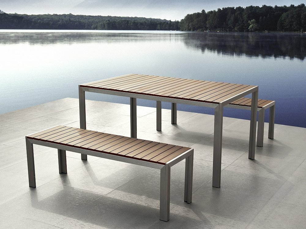 Outdoor dining bench