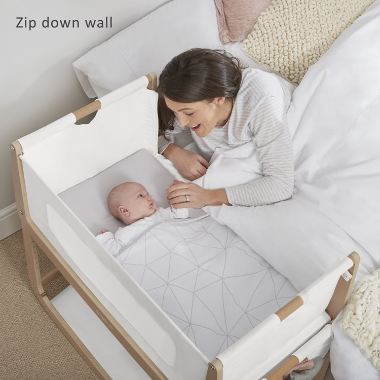 Snuzpod3 Natural Bedside Crib