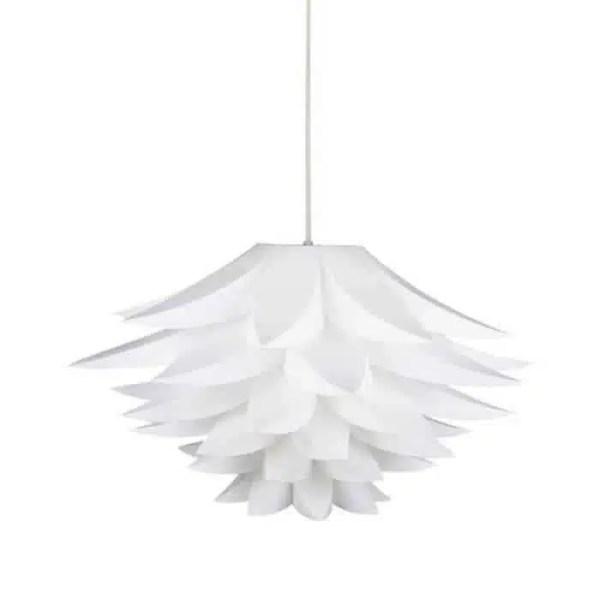Lustre fleur de lotus blanche
