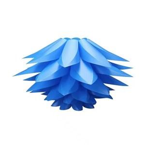 Lustre fleur de lotus bleu