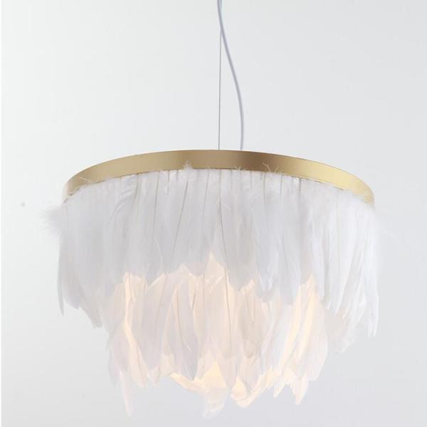 Lustre plumes blanches