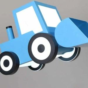 Lustre bulldozer bleu