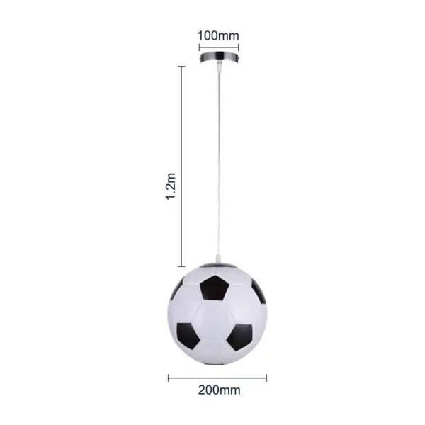 Lustre en forme de ballon de foot