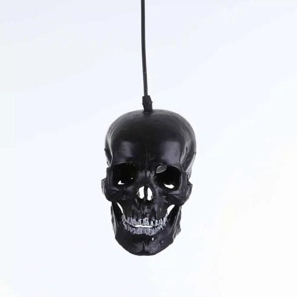 Lustre tête de mort noire