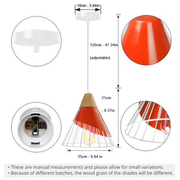 Lustre cône rouge dimension