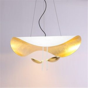 Lustre feuille d'or blanche