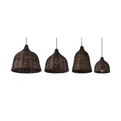 Suspension luminaire bambou foncé