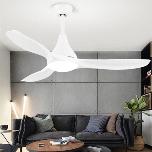 Lustre ventilateur blanc