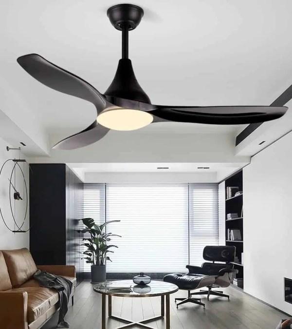 Lustre ventilateur noir