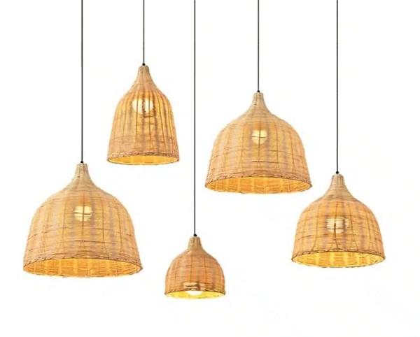 Suspension luminaire bambou clair
