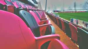 Red and Black Seats at Sports Field