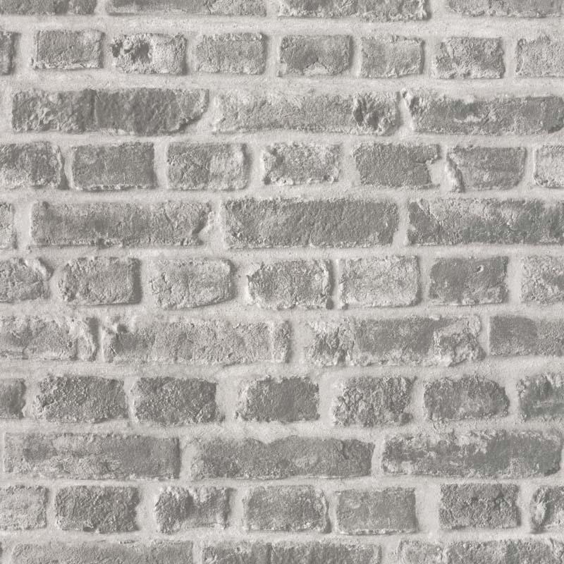 papier peint brique gris fonce papier