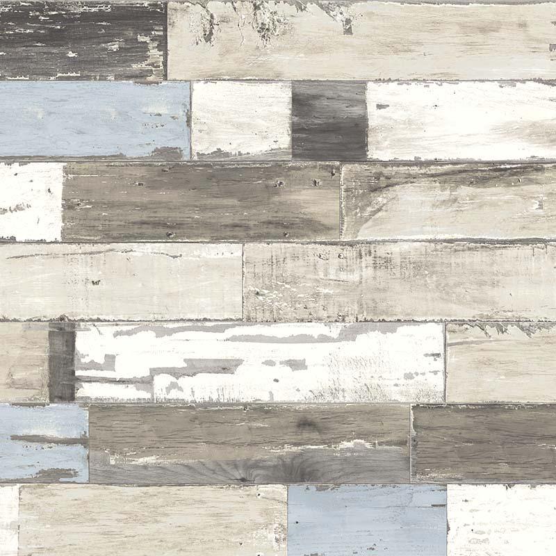 papier peint planche de bois bleu