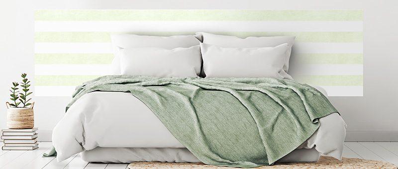 tete de lit en papier peint