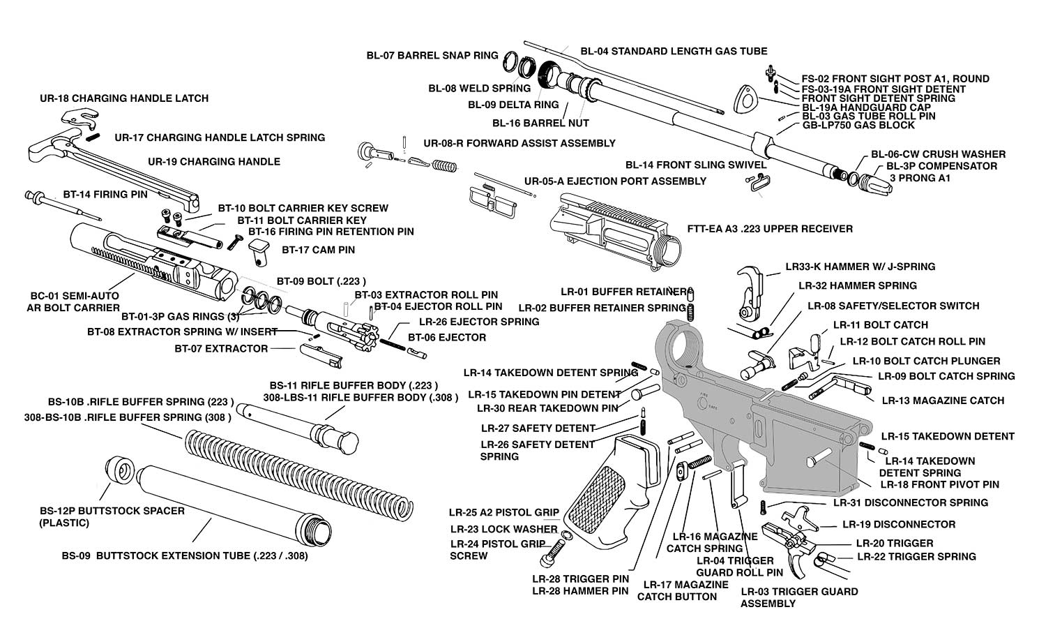 hight resolution of ar15 ejector