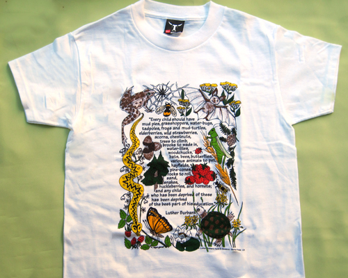 Tee shirt with Luther Burbank quote.