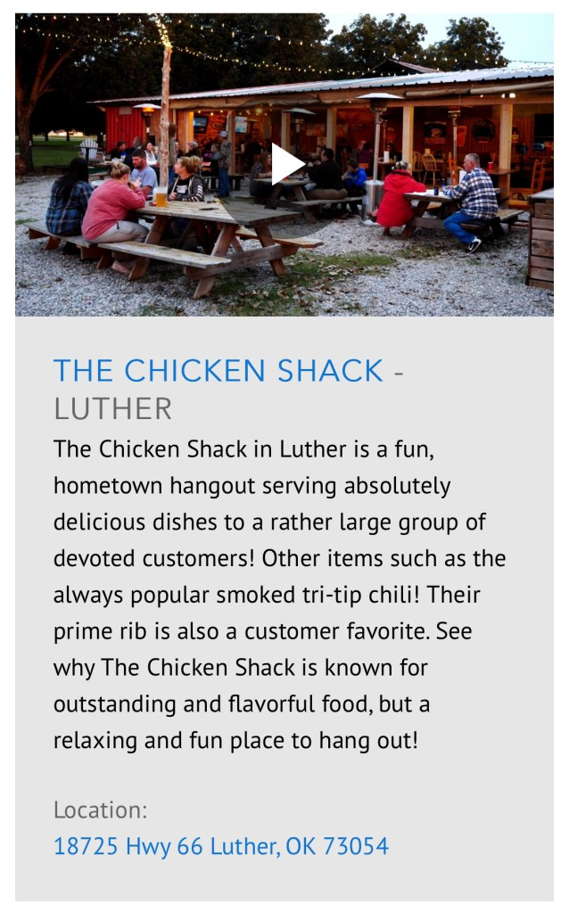 Chicken Shack on Discover Oklahoma
