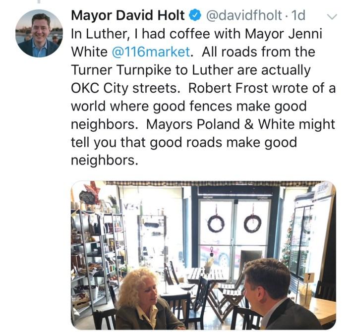 Luther Mayor White and OKC Mayor Holt